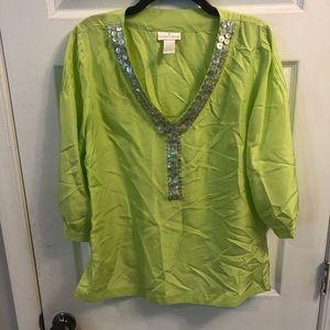 Soft Surroundings 100% silk blouse